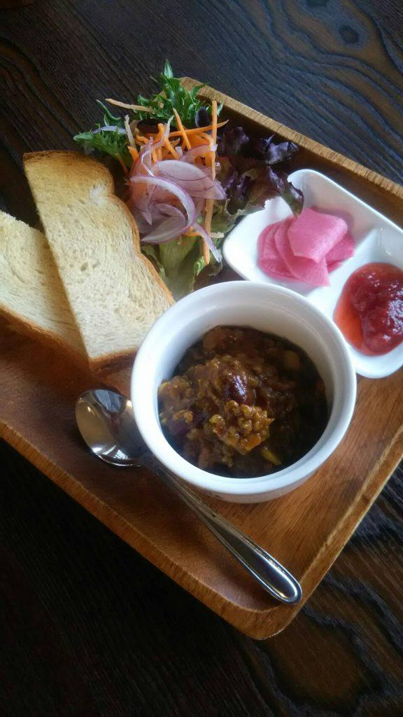 健康食パン&キーマカレーのミニプレート